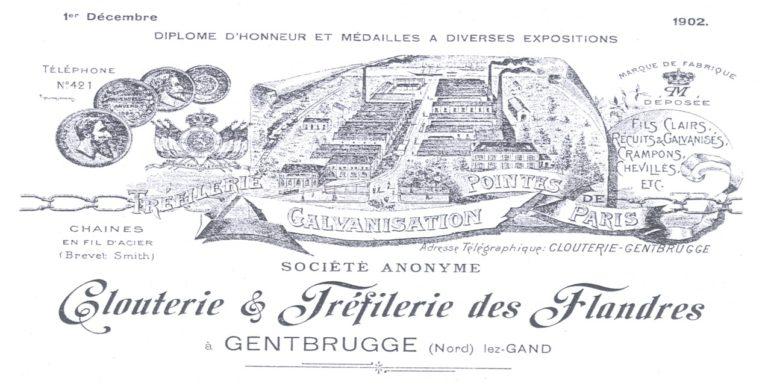 Eerste tekeningen bedrijvenpark Gentbrugge 2 ca. 1870.